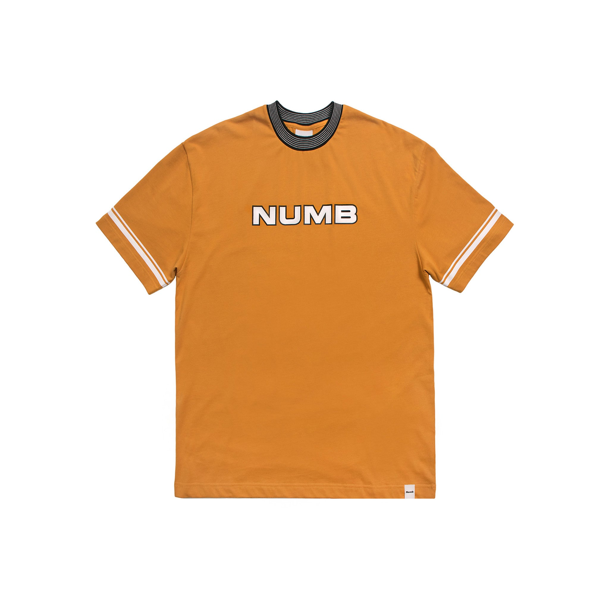 Worldwide Champs Jersey Numb T-Shirt Mustard Front View