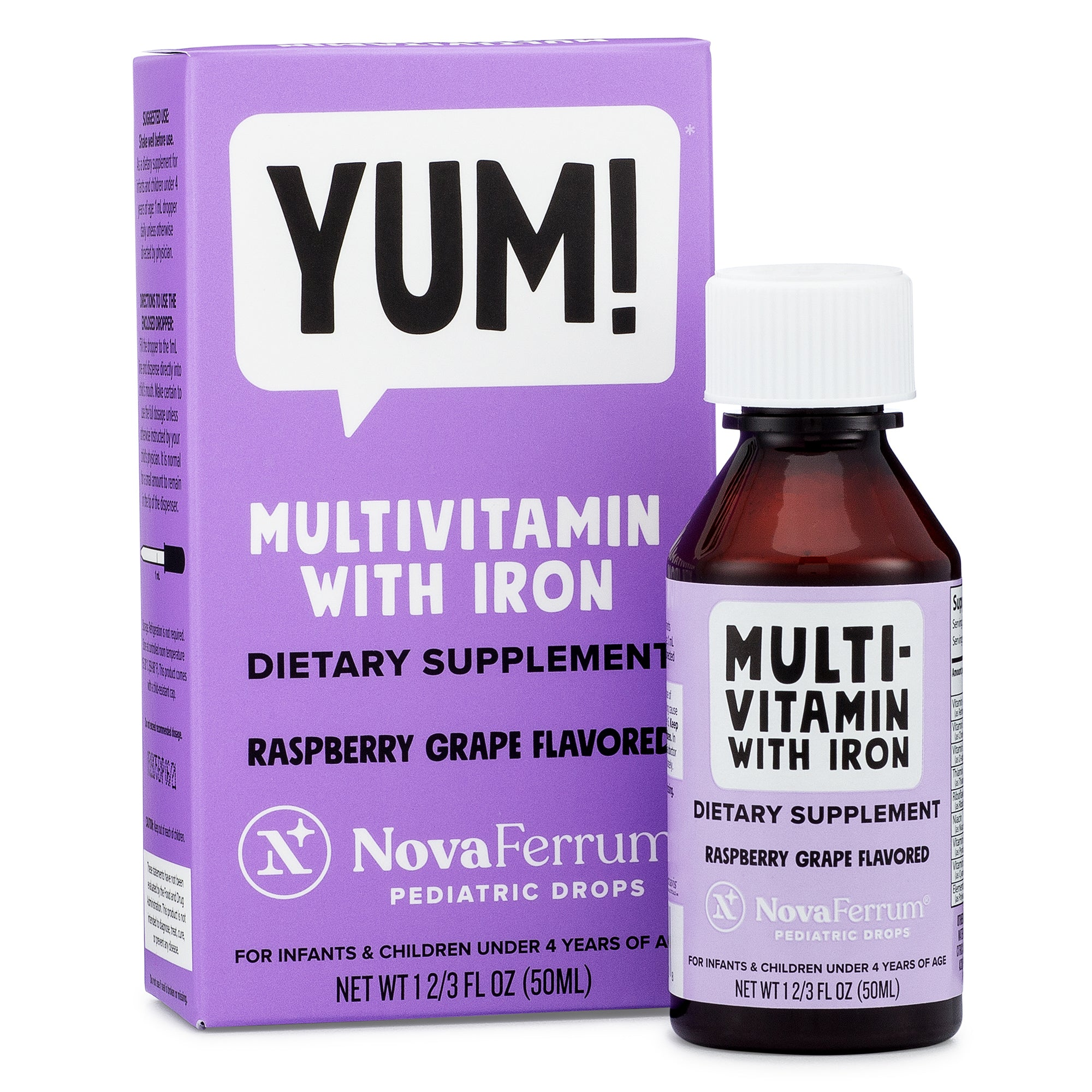 NovaFerrum Multivitamin with Iron for Infants and Toddlers (2 & 4 FL OZ)