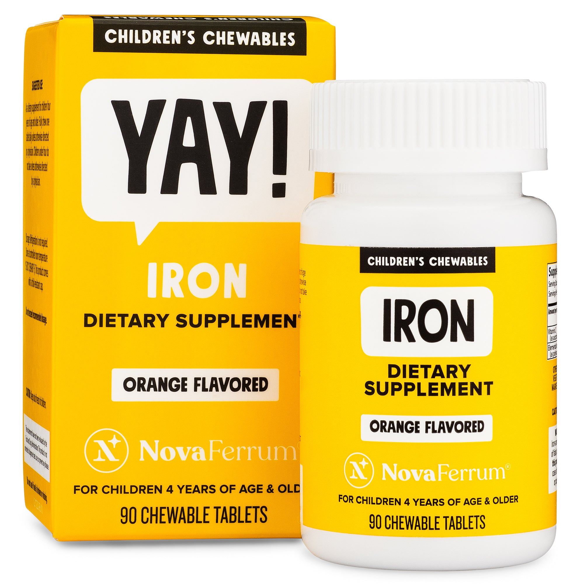 NovaFerrum Chewable Iron Supplement for Kids (90 count)