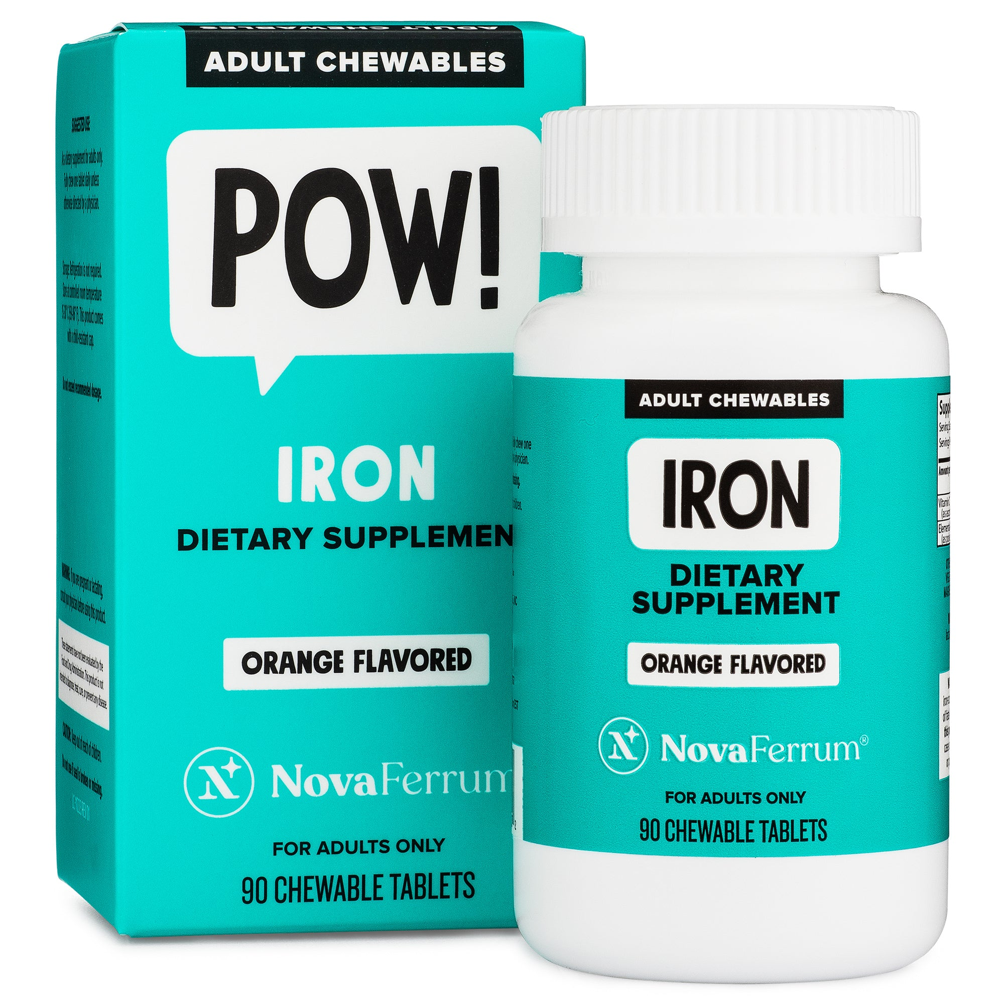 NovaFerrum Chewable Iron Supplement for Adults (90 count)