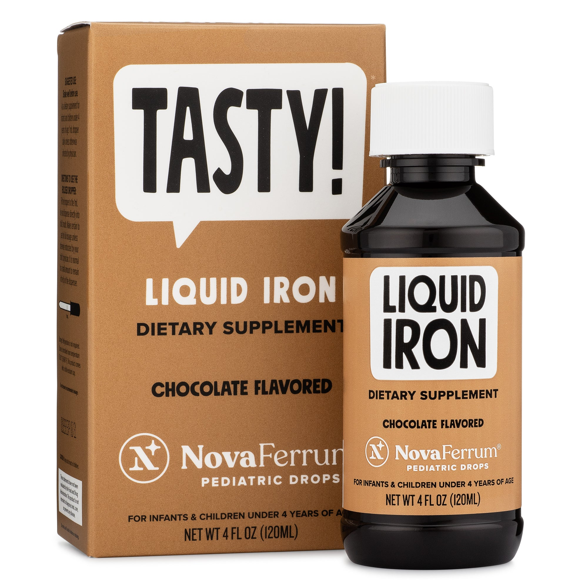 NovaFerrum Liquid Iron Pediatric Drops - Chocolate (4 FL OZ)