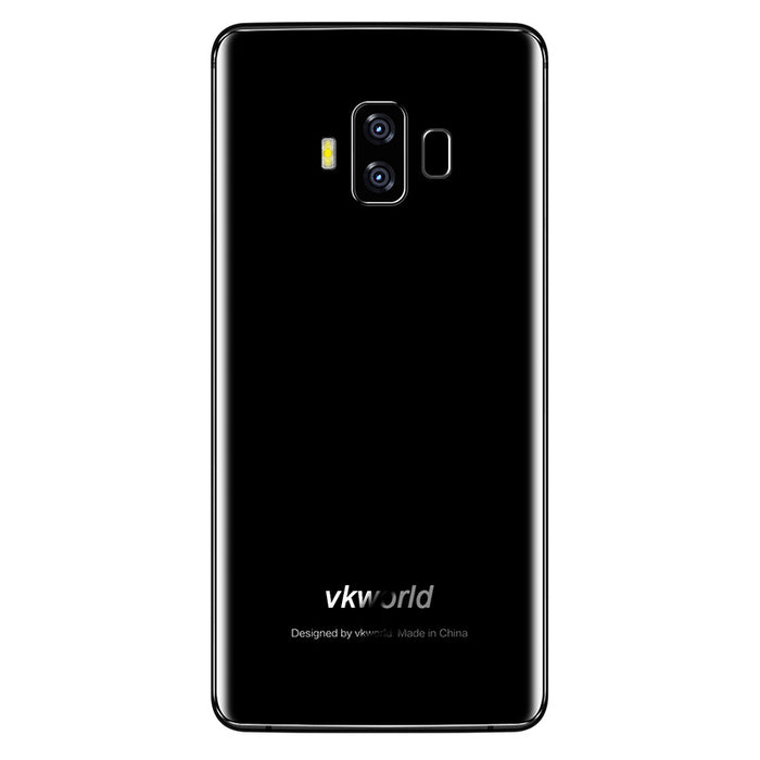 Preorder VKWorld S8 Android Phone - Android 7.0, Octa-Core CPU, 4GB RAM, Infinity Display, 5500mAh, 16MP Dual-Rear Cam (Black)