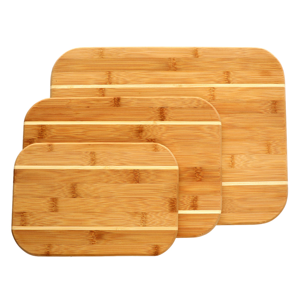 Gibson Home Dewport 3-Piece Bamboo Cutting Board Set