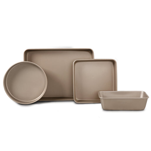 Oster Gale 4-Piece Bakeware Set, gold