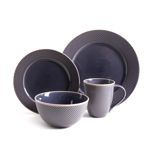 Gibson Lilith 16pc Dinnerware Set - Blue