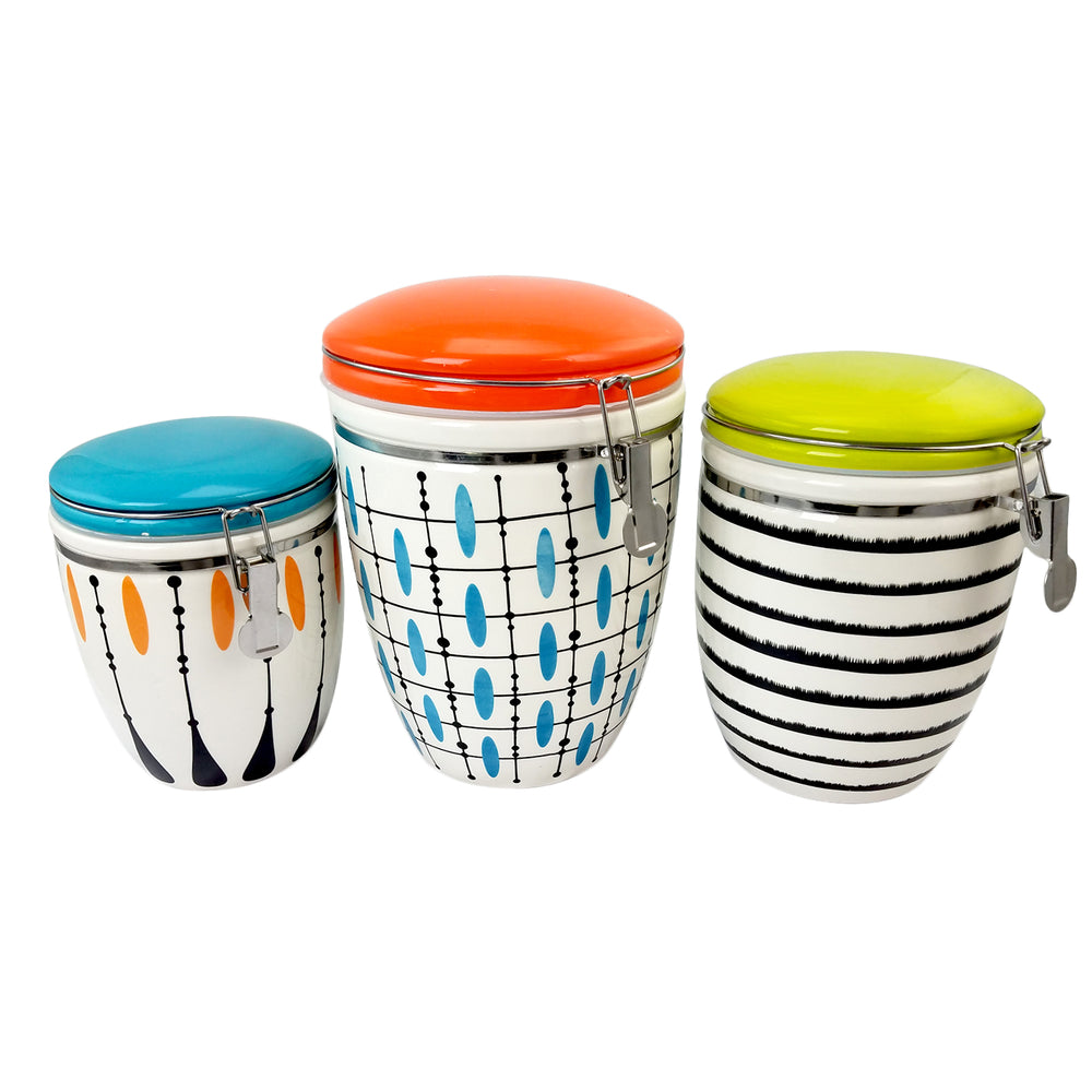 Studio California Luminescent 3-Piece Canister Set in 3 Assorted Designs