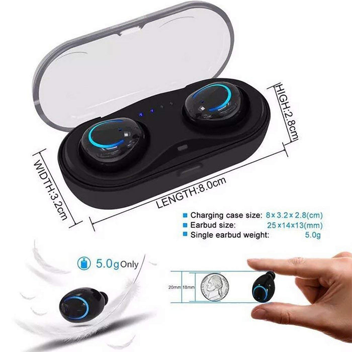 Wireless Earbuds Touch Control Headphones with 800mAh Charging Box V4.2 Noise Canceling Mini Twins Stereo Headset with Mic