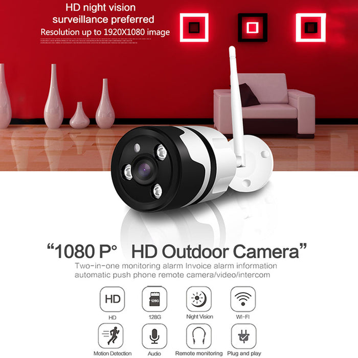 1080P Wireless Wired CCTV Outdoor Camera-UK Plug