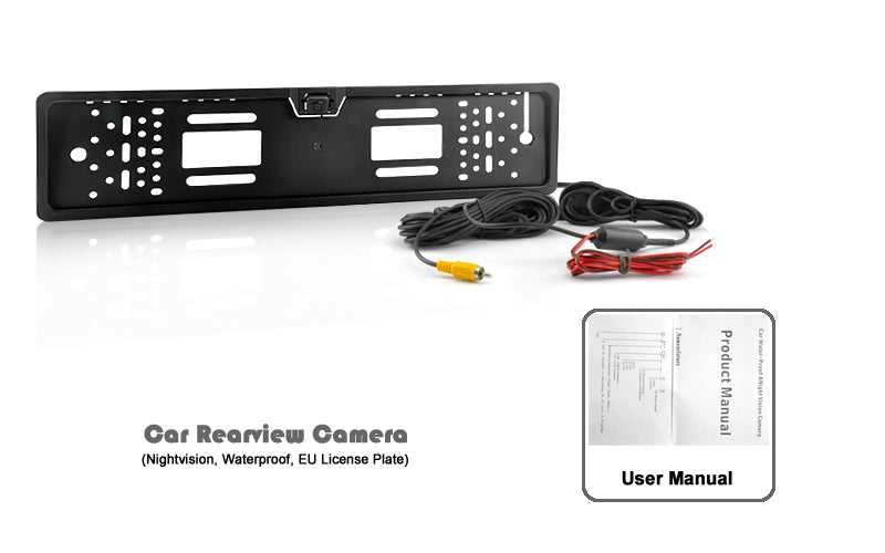 Car Rearview Camera - Nightvision, Waterproof, EU License Plate