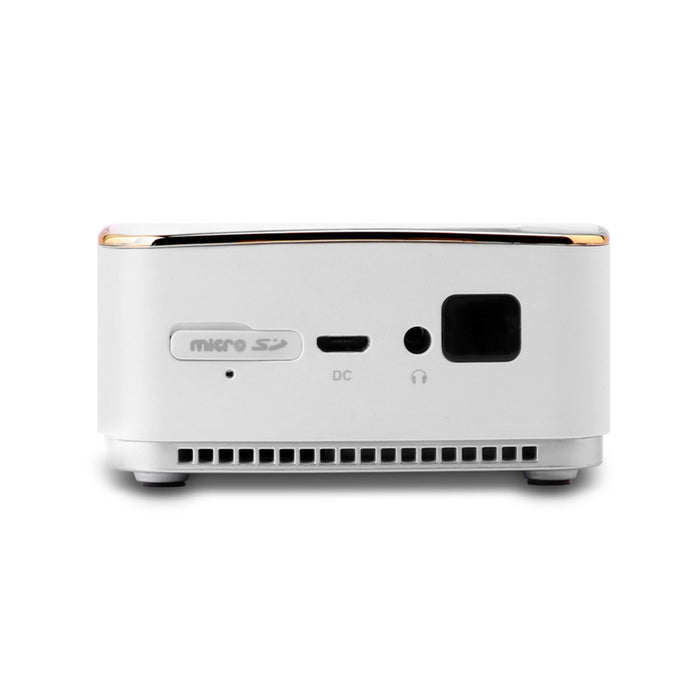 DL S8 White Portable Multimedia Projector Mini Smart Video Beam with Built-in WiFi Bluetooth for Office Teaching