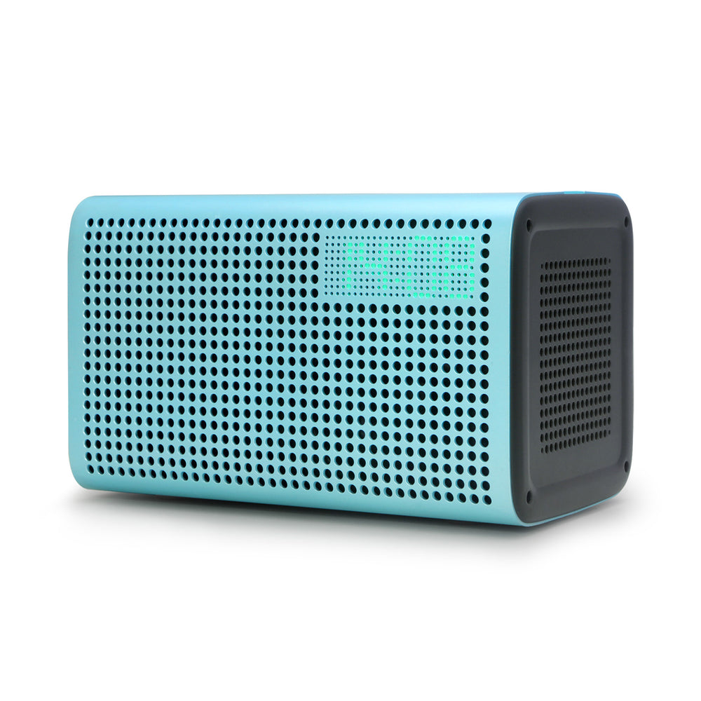 Multi-room Play Wireless Intelligent WiFi Bluetooth 4.0 Voice Control Speaker with Alarm Clock-Blue