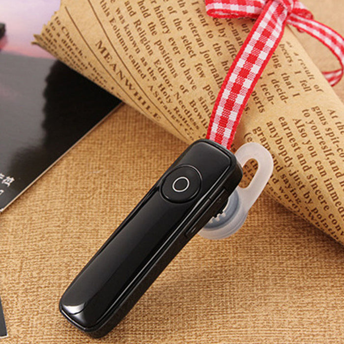 M165 Bluetooth 4.1 Headset Wireless Earphone with Microphone Music Playing Volume Adjustable for iPhone Xiaomi-Black