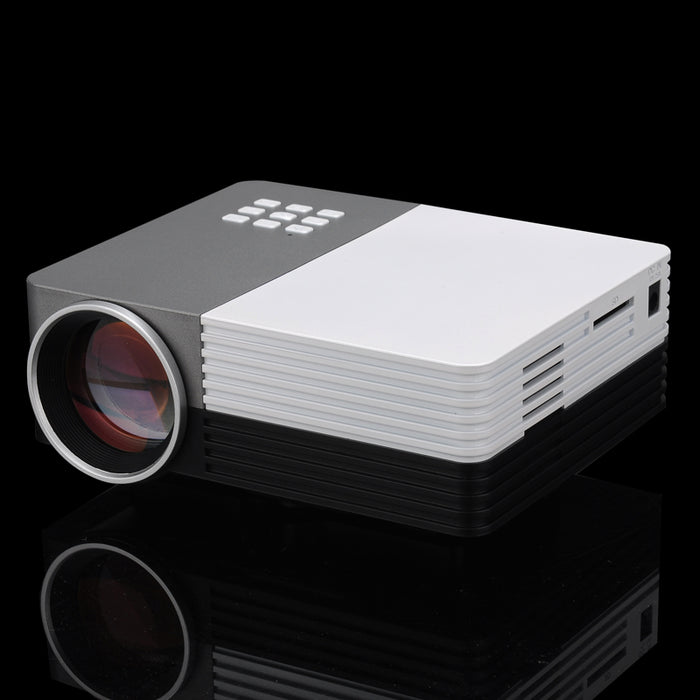 Mini LCD LED Projector - 80 Lumens, 1080p Support, HDMI, 30 To 200 Inch Projection, 500:1 Contrast
