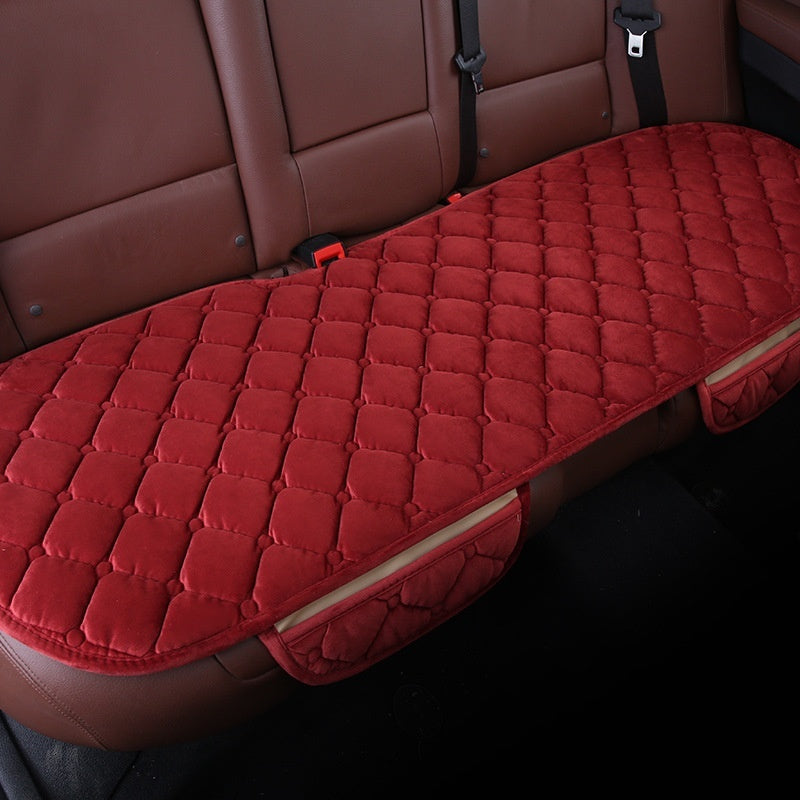 Red Elasticity Comfortable Car Rear Cushion Non-slip Breathable Car Cushion