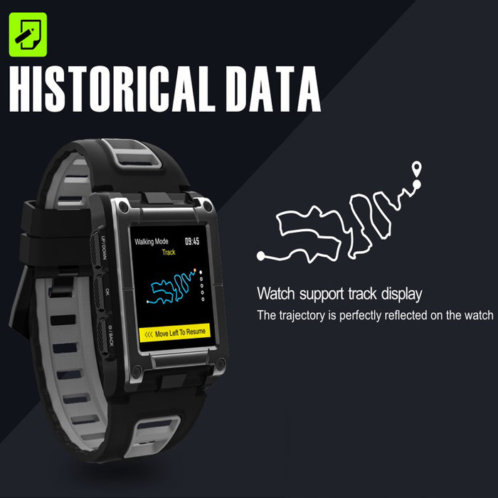 Gray Professional Swimming Sport Smart Watch IP68 Waterproof Fitness Activity Tracker Monitor Heart Rate Monitor Wristwatch