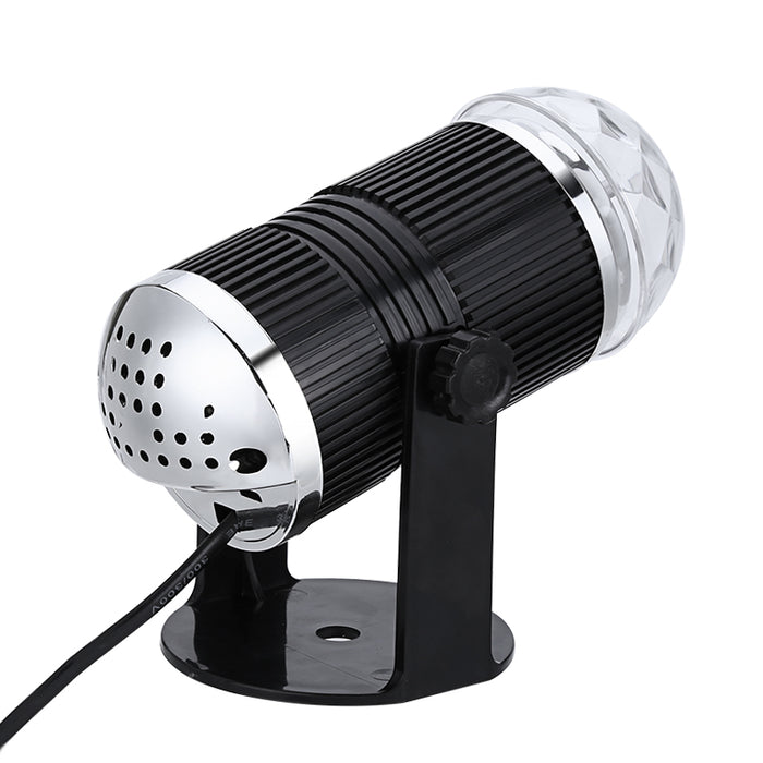 RGB Disco Light - 3 Watt, Sound Active, Rotating Light, Large And Stunning Visual Effects