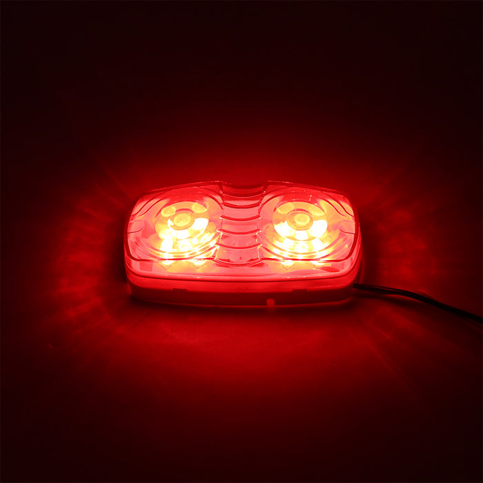 12V 10 LEDs Tiger Eye Shape Double Bullseye Marker Light Clearance Lamp for Trailer Truck