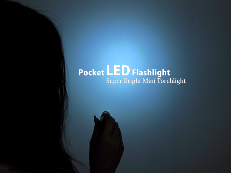 Pocket LED Flashlight - 45 Lumens, Shock + Weather Resistant Aluminum Casing