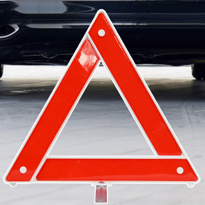 Car Emergency Breakdown Warning Triangle Red Reflective Safety Foldable Parking Stander