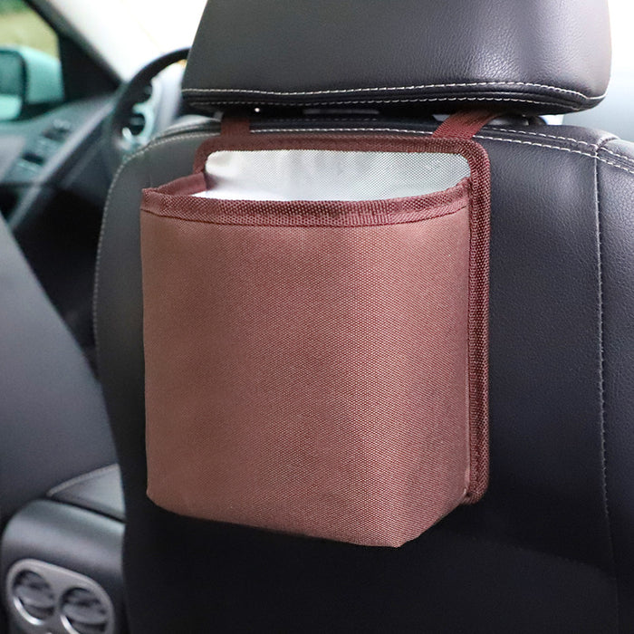 Brown Storage Pouch Seat Back Pocket