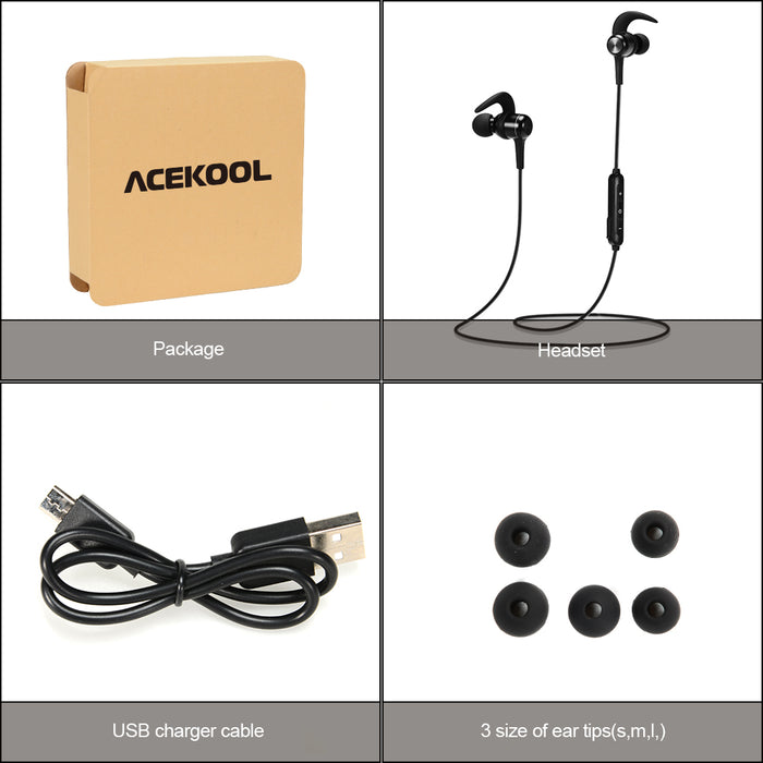 Wireless Headset, Bluetooth 4.1 In-ear Stereo Sport Headphone