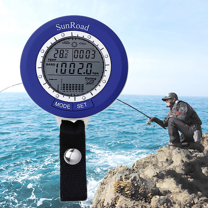 Sunroad SR204 Fishing Barometer - Tracks 6 Locations At Once, Air Pressure, Temperature, Water Depth, Weather Forecast, IPX4