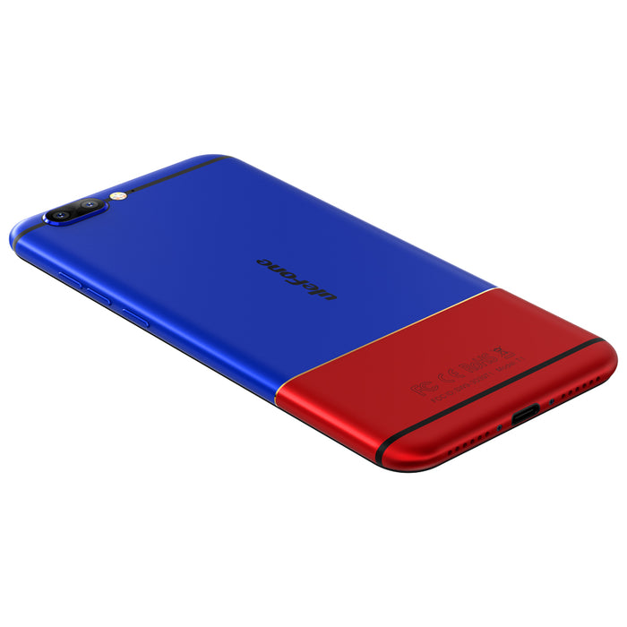 Ulefone T1 Fingerprint 4G Unlocked 5.5-Inch FHD Smartphone-Red And Blue