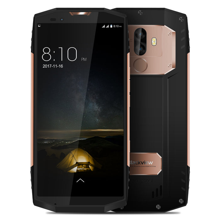 "Blackview BV9000 Pro Smartphone 5.7"" 18:9 FHD+ Full Screen 6GB RAM+128GB ROM 4180mAh IP68 Waterproof NFC Mobile Phone Gold"