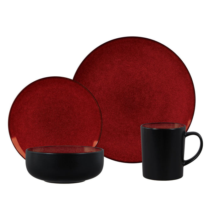 Novabella 16 pc Dinnerware Set, Burgundy