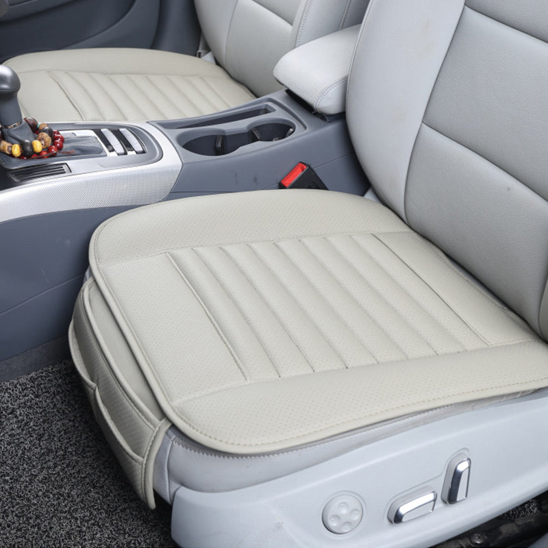Gray Breathable PU Leather Bamboo Charcoal Car Interior Seat Cover Cushion Pad for Auto Supplies Office Chair