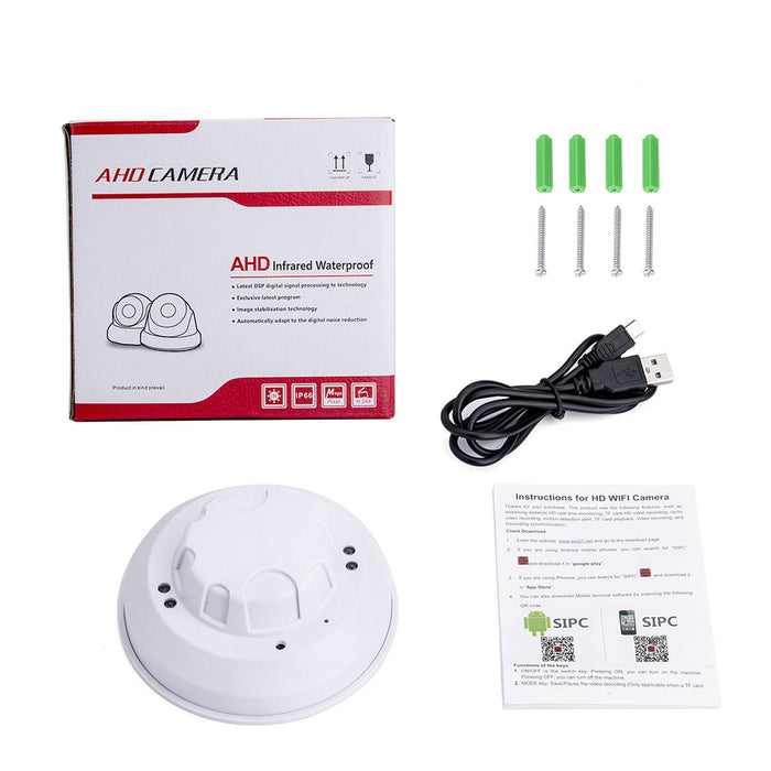 WiFi HD 1080P IP Camera Mini Smoke Detector Motion Detection Nanny Cam DVR