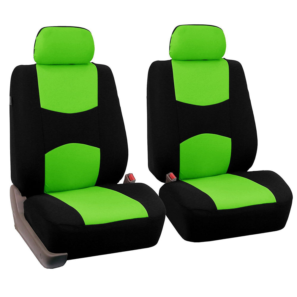 4pcs/set Universal Car Front Seat Cushion Cover Green