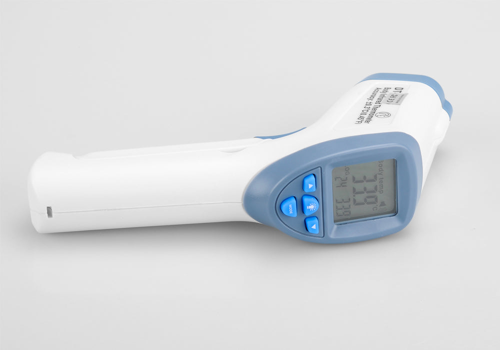 Infrared Non Contact Body + Object Thermometer - Fahrenheit + Celsius, LCD Display, Store 32 Readings, 0.5 Seconds Sample Rate