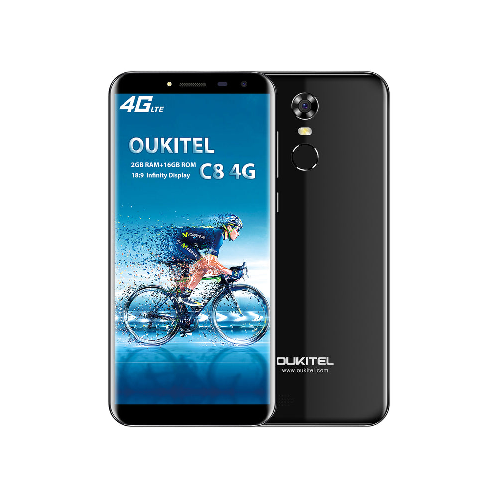 OUKITEL C8 5.5 Inch MT6737 Android 7.0 4G Smart Phone (Black)