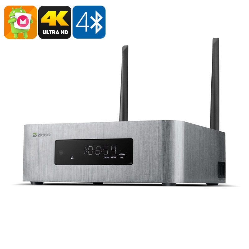 ZIDOO X10 Android TV Box - Android 6.0, 4K, Realtek RTD 1295 CPU, 2GB RAM, HDMI Recording, Dual-Band WiFi, SATA Support