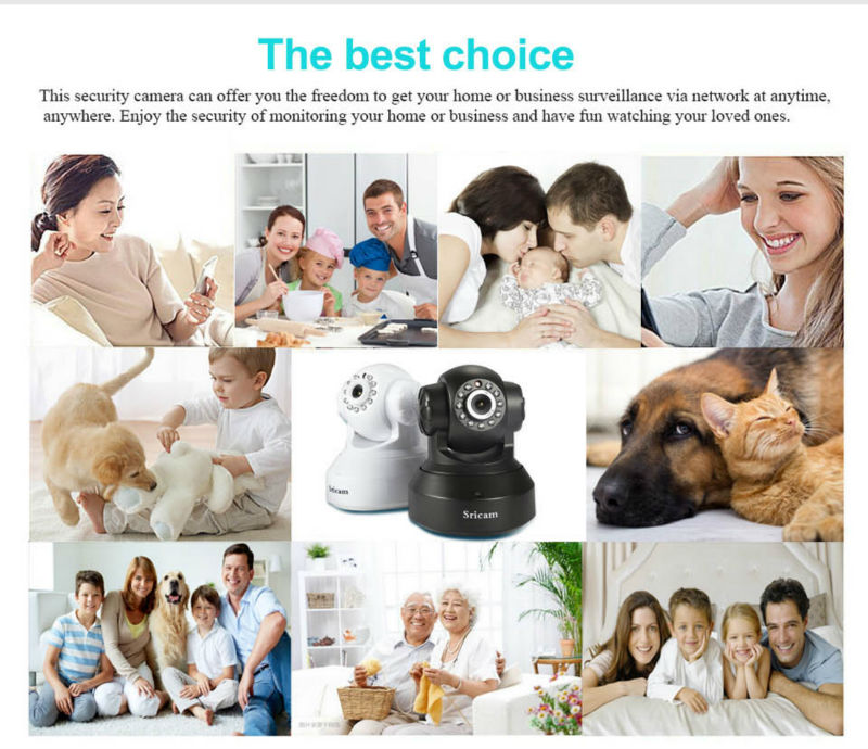 Sricam SP005 IP Camera 720P HD Wifi Infrared Night Vision Smart Monitor Security CCTV Camera AU Plug
