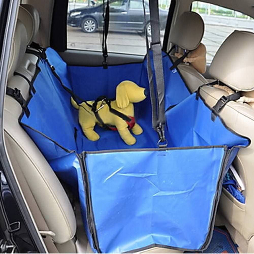 Blue Waterproof Vehicle-Mounted Pet Car Back Seat Mat Soiling Resistant Cushion Seat Cover