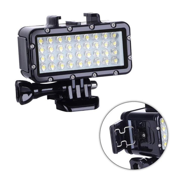 Diving Light High Power Dimmable 36 LEDs Video Light Fill Night Light Diving Underwater Light Waterproof 147ft(45m) for Gopro He