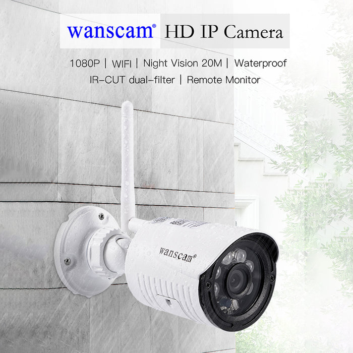 UK Plug Wanscam HW0022-1 1080P WiFi Outdoor IP Camera Night Vision Motion Detection Camera