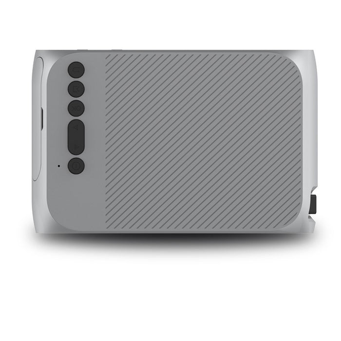 AU Plug Mini Projector Home Theater Cinema TV Portable LED Projector 1080P HDMI/USB/SD/AV Projector Silver Gray