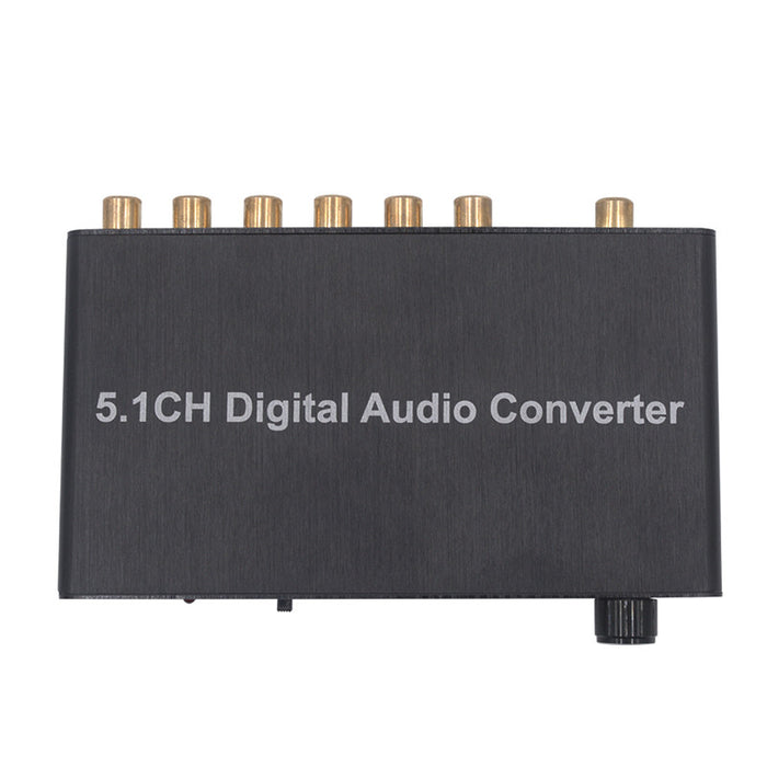 5.1 CH Digital Audio Converter Decoder SPDIF Optical Coaxial to RCA DTS/AC3