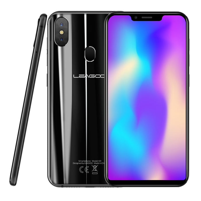 "LEAGOO S9 Mobile Phone 5.85"" 4GB RAM+32GB ROM Android 8.1 13MP Dual Rear Camera  Smartphone Black"