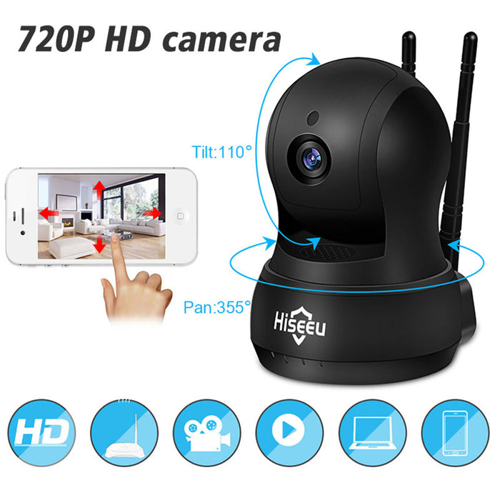 AU IP Camera Wi-Fi Wireless Network Camera HD TF Card Record Home Security CCTV Camera Baby Monitor