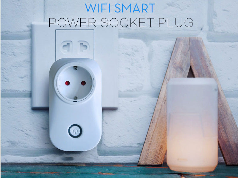 Smart Home WiFi Plug - EU Plug, Amazon Echo Alexa, App Support, WiFi, Flame Retardant ABS, Supports Android And iOS