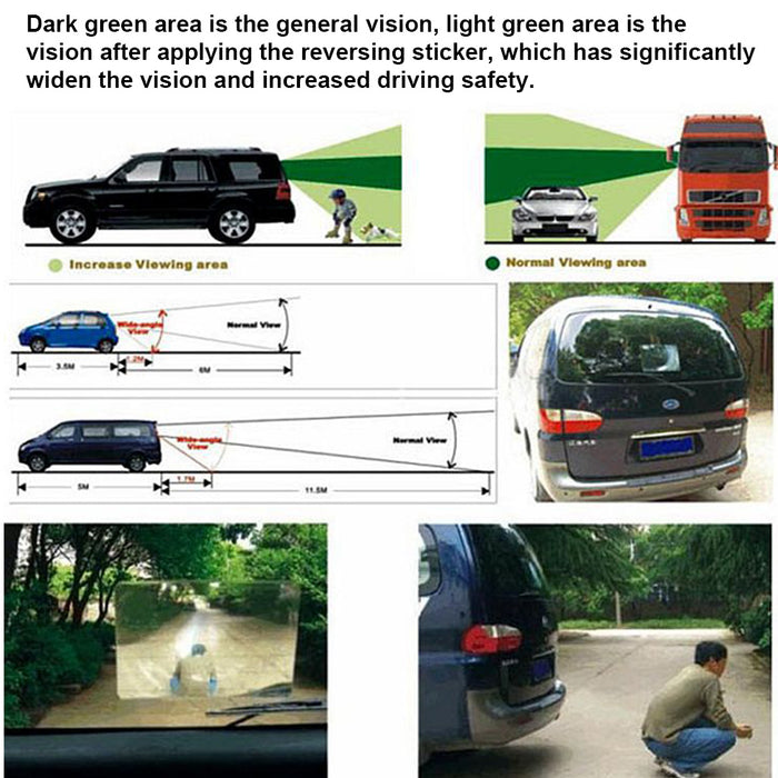 Hatchback Car Reversing Assistance Film Vehicle Rear Windshield Wide Angle Vision Parking Backup Fresnel Lens Sticker