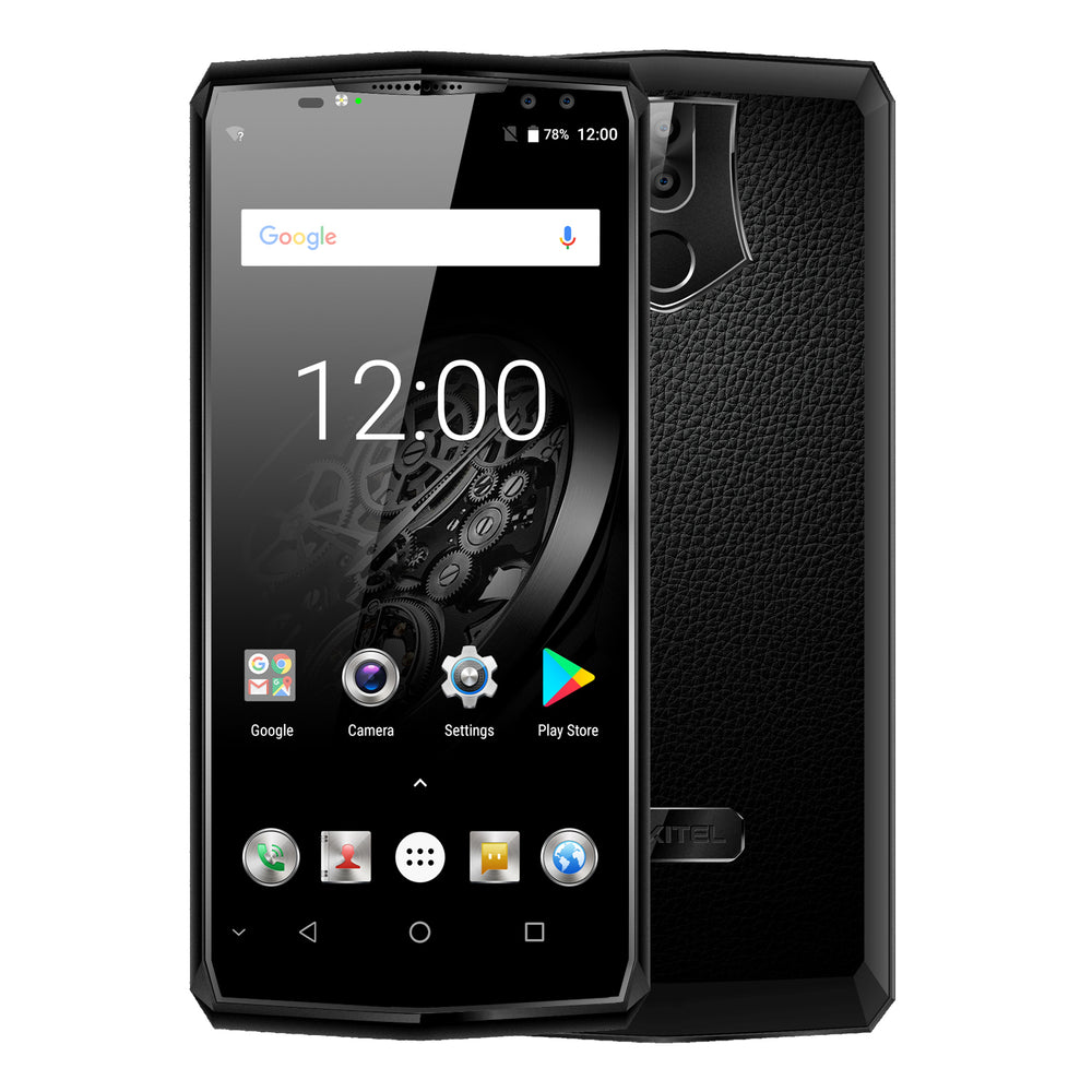 OUKITEL K10 6 Inch 6GB + 64GB 11000MAH Battery Android 7.1 Black Smart Phone