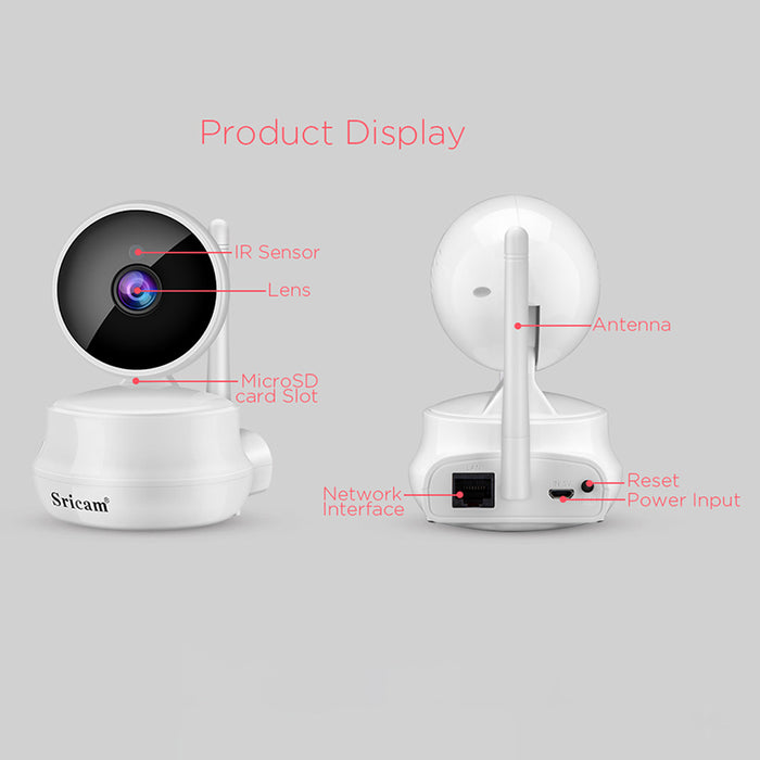 Sricam SP025 HD Wireless Wifi IP Camera Support Night Vision