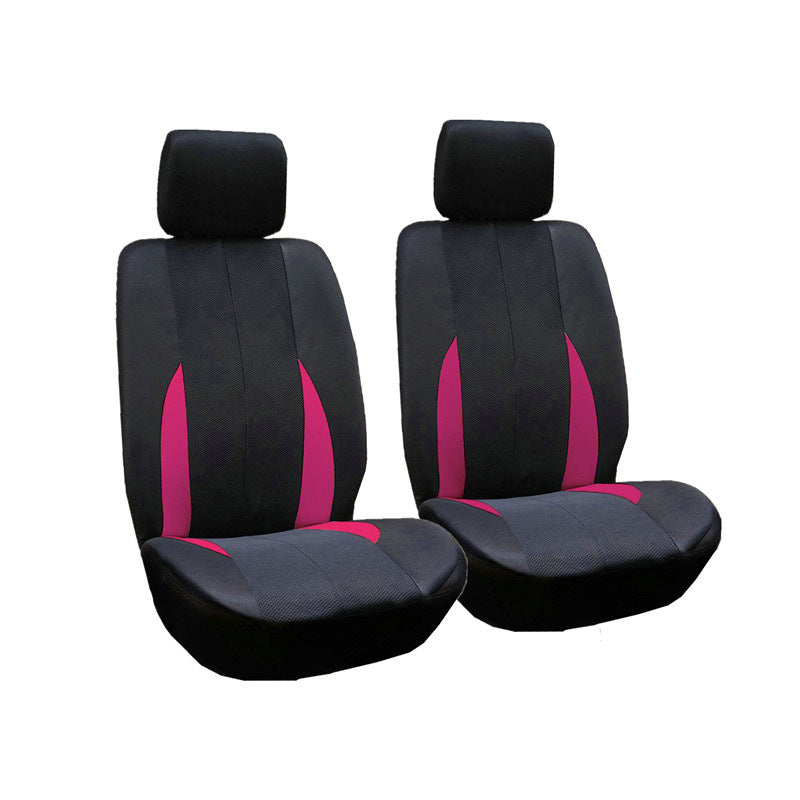Rose 2pcs/Set Car Front Breathable Seat Covers Universal Application 4 Seasons Available