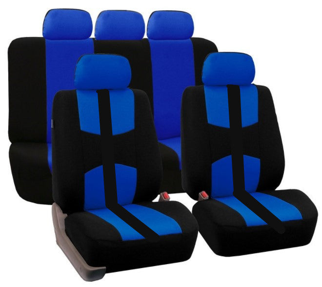 Red 9Pcs Car Seat Covers