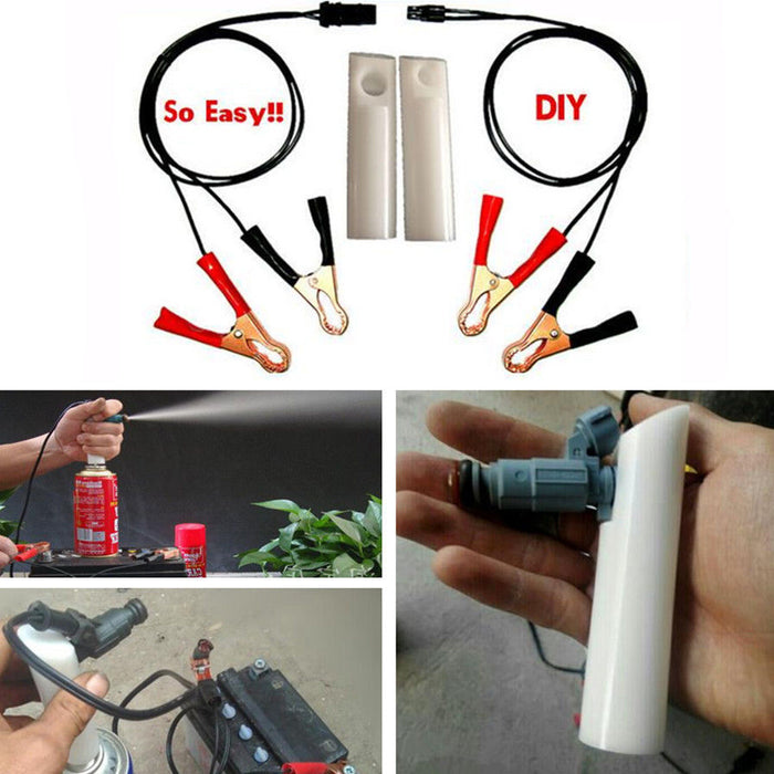 Universal Fuel Injector Flush Cleaner Jet Nozzle Cleaning Tool for Auto Car  Vehicles